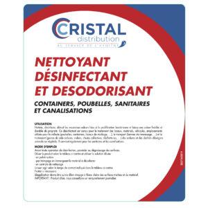 CRISTAL NETTOYANT DESINFECTANT DESODORISANT 5L