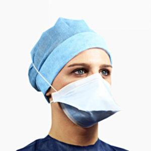 Masque de protection respiratoire blanc - FFP2 - Avec élastique